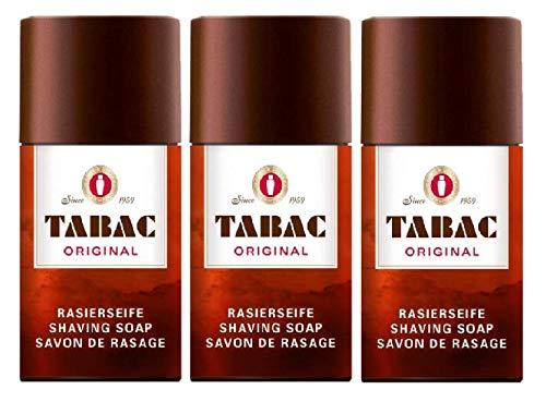 Tabac - Lote de 3 jabones de afeitado originales (100 g)