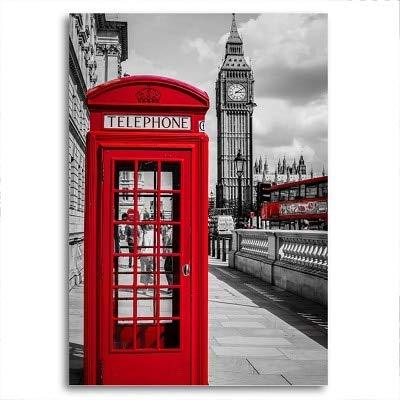 Ahzsnk Puzzle 1000 Piezas Autobús Rojo Negro Blanco París Londres Serie 1 Rompecabezas de cartón para niños, Juegos educativos, Rompecabezas de desafío Mental50x75cm(20x30pulgada)