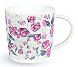 Vera Bradley Pink/Purple Ceramic Coffee Mug/Tea Cup, Dishwasher and Microwave Safe, 12 Ounces, Hummingbird Ditsy
