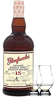 Glenfarclas 15 Jahre Single Malt Whisky 0,7 Liter  2 Glencairn Gläser