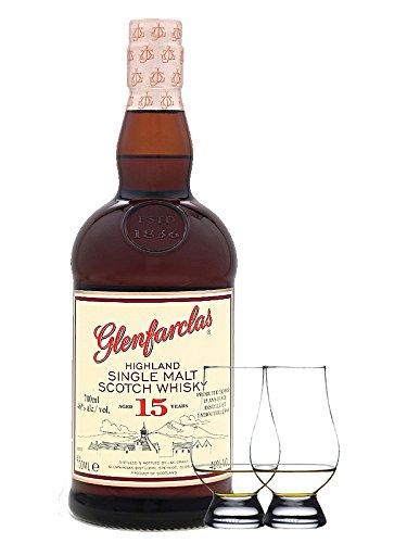 Glenfarclas 15 Jahre Single Malt Whisky 0,7 Liter + 2 Glencairn Gläser