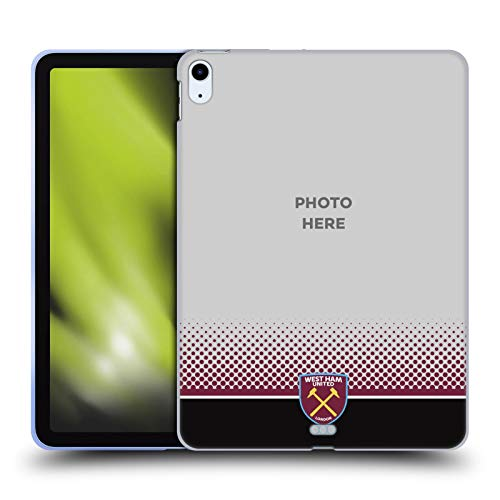 Custom Customised Personalised West Ham United FC Fade Photos Soft Gel Case Compatible for Apple iPad Air (2020)
