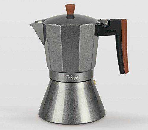 Life Style - Cafetera Express Buon Caffe Estilo Italiano - 9 Tazas - Aluminio Negro …: Amazon.es: Hogar