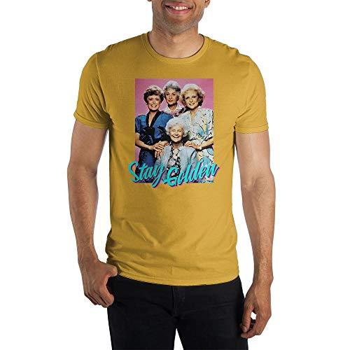 Bioworld The Golden Girls Stay Golden T-Shirt (Gold, Large)