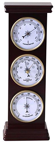 Koch Wetterstation, Maritim, stehend, Mahagoni, 36,0 x 11,5 x 6 cm