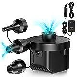 Karvipark Elektrische Luftpumpe, Elektrische Pumpe Automatische 2 in 1 Schnellbefüllbarer Deflate Power Pump Elektrisch Blasebalg mit 3 Düsen für Luftmatratze Schwimmring Aufblasbares Spielzeug