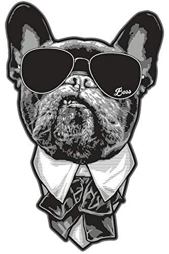 Aufkleber Wetterfest French Bulldog Chef 15 cm oder 40 cm Französische Bulldogge
