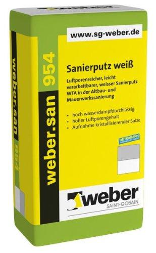 weber.san 954, 25kg - Sanierputz weiß