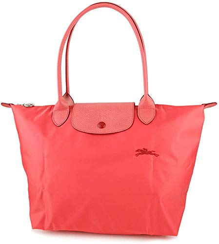 Longchamp 'Medium 'Le Pliage Club' Nylon Tote Shoulder Bag, Coral