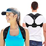 Posture Corrector for Men & Women - Upgraded Lengthened Brace Back Straightener - Comfortable Posture Trainer for Shoulder Support,Back & Neck Pain Relief
