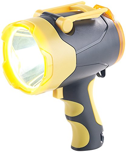 Lunartec Handscheinwerfer: Akku-LED-Handlampe, 10 Watt, bis 400 m Leuchtweite, Powerbank-Funktion (Akku Handscheinwerfer)