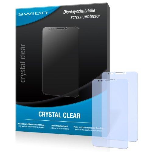 SWIDO Bildschirmschutz für Alcatel One Touch Idol [4 Stück] Kristall-Klar, Hoher Festigkeitgrad, Schutz vor Öl, Staub & Kratzer/Schutzfolie, Bildschirmschutzfolie, Panzerglas Folie