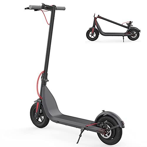 Msoah Patinete Eléctrico ES-E10 - Neumáticos De 10' - hasta 30km De Largo Alcance Y 20km / H Scooter Portátil Plegable para Adultos con Ajuste De Tres Velocidades