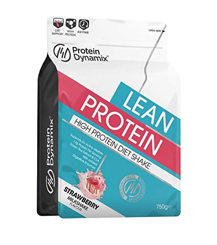 Protein Dynamix 750g Lean Protein Diet Shake with Added CLA & Green Tea (Strawberry Milkshake)