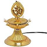 BALAJI E RETAIL OFFER 1 Layer Electric Gold LED Bulb Lights Diya/Deep/Deepak for Pooja/Puja/Mandir Diwali Festival Decoration || Made in India Product SHM192