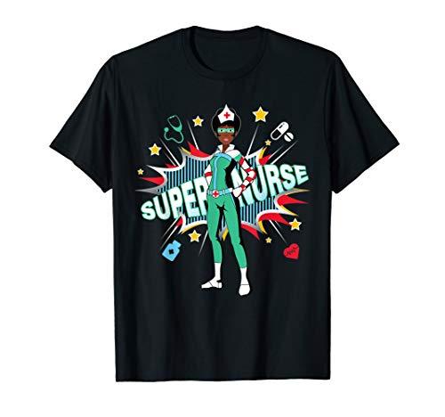 Black Nurses Rock Shirt   Super Hero Funny Black RN Nurse T-Shirt