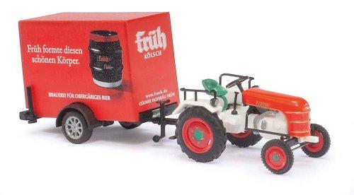 Busch Voitures - BUV40063 - Modélisme Ferroviaire - Tracteur Kramer KL 11 avec Remorque
