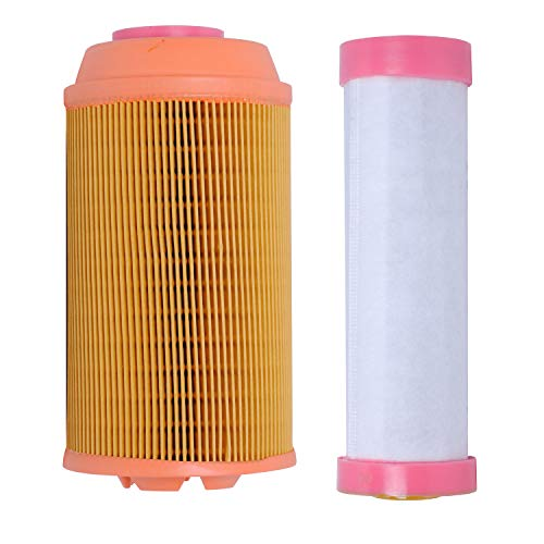 Podoy K3181-82250 Air Filter for Compatible with Kubota Zero Turn ZD323 ZD326 ZD331 Lawn Mowers with K3181-82240 Inner Outer Air Filter Kit