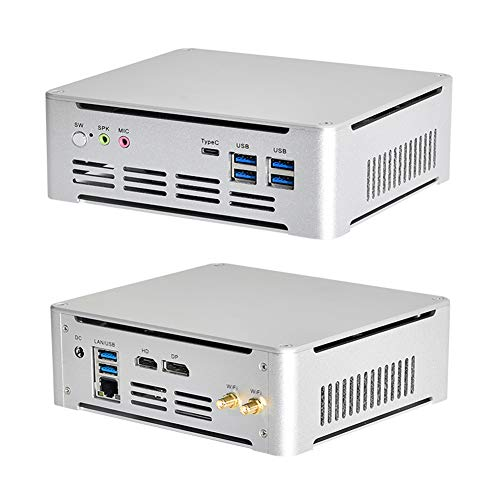 Partaker Mini PC,Desktop Computer,Intel 4 Cores I5 8300H Up to 4.0GHz,USB-C, WiFi, Bluetooth, 4K, Dual Monitor Capable,Silent Fan, Win10 Pro(No Ram No Storage)
