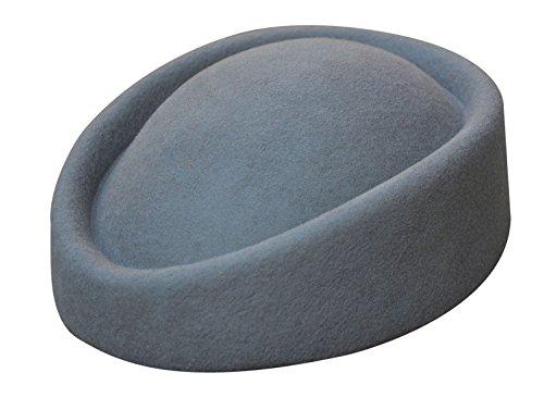 Lawliet Lawliet, Fascinator aus Wollfilz, Hochzeitshut, Pillenbox-Hut für Damen, schöner Hostessen-Hut Gr. Einheitsgröße, grau