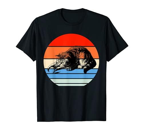 Playful Cat camiseta, camiseta retro gato, gato vintage Camiseta