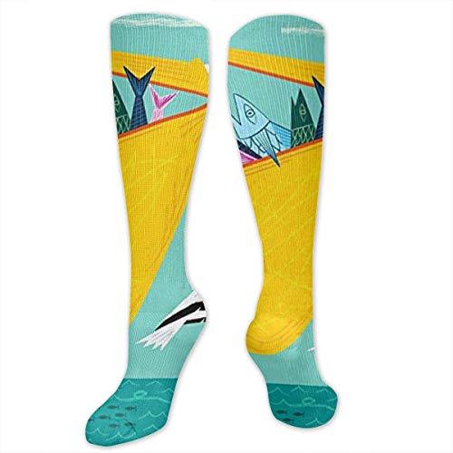 zhouyongz The Greedy Pelican Wildlife Animal Training Socks Crew Calcetines deportivos largos calcetines de fútbol suaves para hombres y mujeres