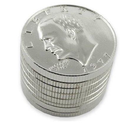 1 X Three Piece NEW STYLE Coin Herb Grinder
