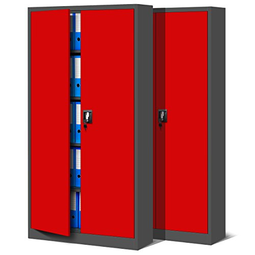 Jan Nowak 2er Set Aktenschrank C001 Metallschrank Stahlschrank Werkzeugschrank Büroschrank...
