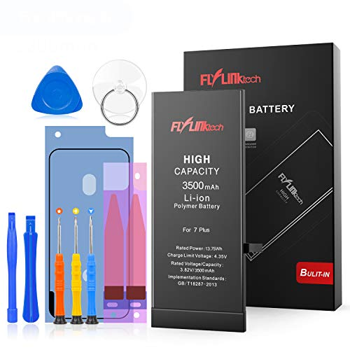 Flylinktech for iPhone 7 Plus Battery Replacement, 3500mAh High Capacity Li-ion Battery with Repair Tool Kit -Included 24 Months Assurance