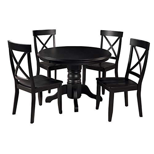 Hot Sale Home Styles 5178-318 5-Piece Dining Set, Black Finish