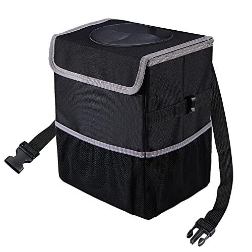 Yeefeoch Car Trash Can Waterproof Foldable Reusable Car garage bag,Automotive Garbage Can,Black