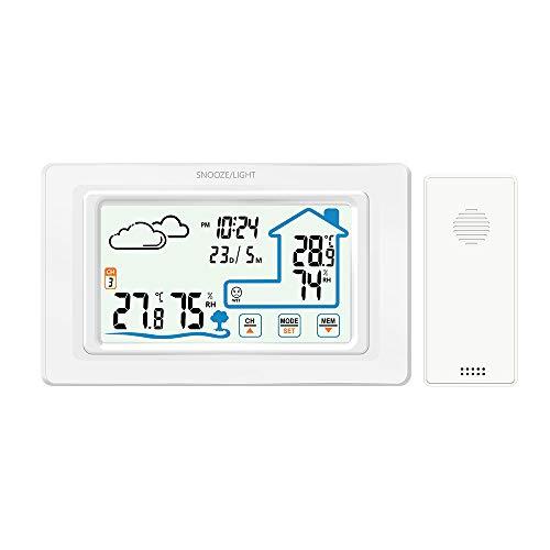 GAOYOO DREI Sensoren Touch Control Digitales Temperaturmessgerät Für Innen- Und Außenwetterstationen