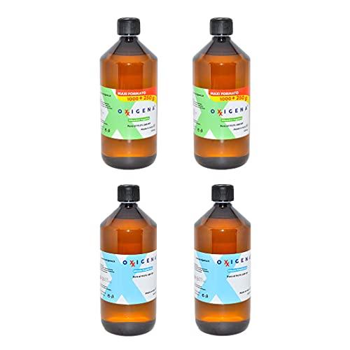 Oxxigena - Kit Base Neutra da 4 lt, Glicerina Vegetale Liquida Pura (2 lt) + Glicole Propilenico Liquido Puro (2 lt), 50 VG / 50 PG, Made in Italy, Purezza Farmaceutica Certificata