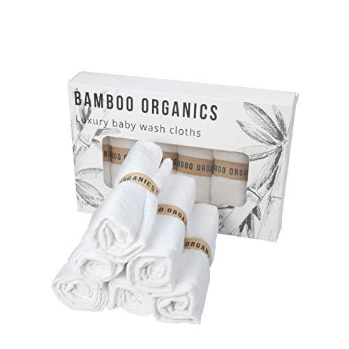 Bio-Baby-Waschlappen aus Bambus, wiederverwendbar, sehr weich, 6 Stück, empfindliche Haut, umweltfreundlich