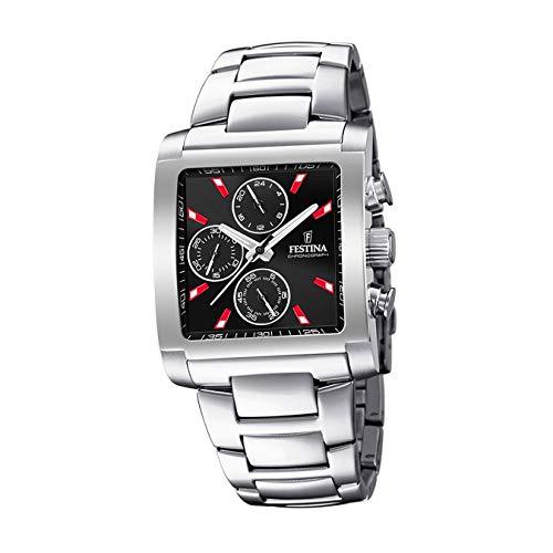 Festina Herren Chronograph Quarz Uhr mit Edelstahl Armband F20423/8