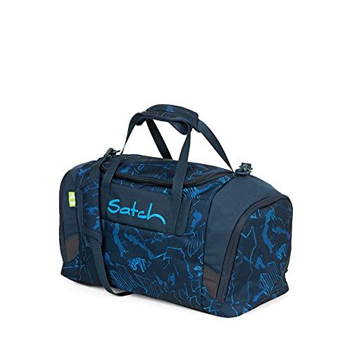 Satch Duffle Bag Compass Bolso Tiempo Libre y Sportwear Unisex Infantil, Niños, Blue Patterned (Azul), Talla Única