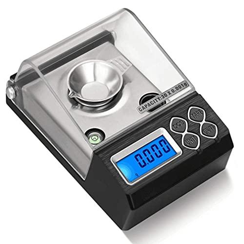 FYHH-JZHY Báscula De Alta Precisión, Las Últimas Mini Básculas Electrónicas Portátiles Básculas De Precisión Material Médico Aplicable Básculas Multifuncionales De Diamante (Capacidad: 20G / 0.001G)