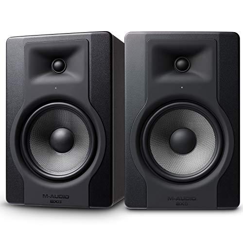 M-Audio BX8 D3 Pair - Professionelle 2-Wege Aktiv Studiomonitor und PC Lautsprecher, 150 Watt für Musikproduktion und Mixing mit eingebauter Acoustic Space Control, 2 Stücke