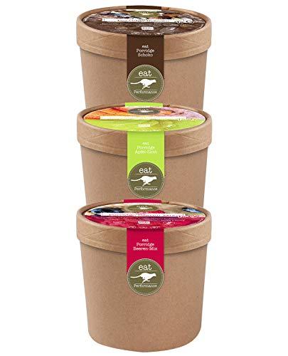 eat Performance® Variety Porridge To Go Box (3x 60g) - Bio, Paleo, Glutenfreies Frühstück