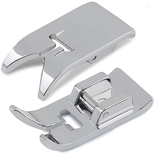 Addicted DEPO - Universal Zig Zag Straight Stitch Snap-On Presser Foot 2PCS for 15 Class Low Shank Sewing Machines