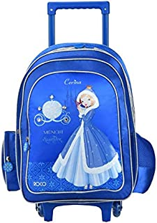 """ROCO Bag KNAPSACK TROLLEY 15"""" 3-IN-1,with pencil case & Lunch Bag"""