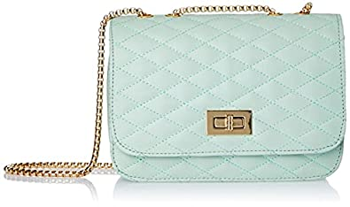 Envias Leatherette Side Sling Bags For Women's Ladies (Green_EVS-122)