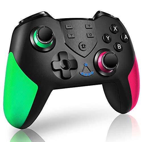 Switch コントローラー Bluetooth 接続 HD振動 スイッチ コントローラー 高耐久ボタン 6軸ジャイロセンサー スイッチ プロコントローラー TURBO連射機能 背面ボタン付き スイッチ プロコン 日本語取扱説明書 スイッチの全てシステムに対応