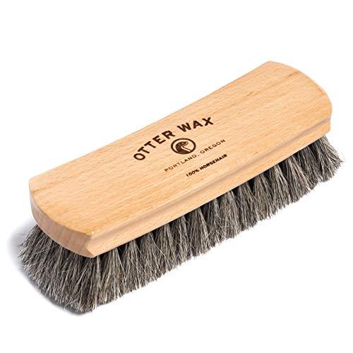 Otter Wax Premium Horsehair Shoe Brush