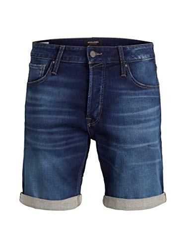 JACK & JONES Herren Jeansshorts Regular Fit Indigo Knit MBlue Denim