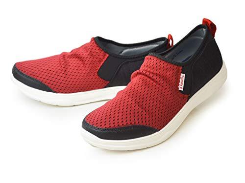 [ファナティック] スリッポン メンズ スニーカー 靴 メッシュ カジュアルシューズ ランニング ジョギング マラソン アクティブ 通気性 撥水 防滑 軽量 お洒落 靴 メンズシューズ Red 26cm