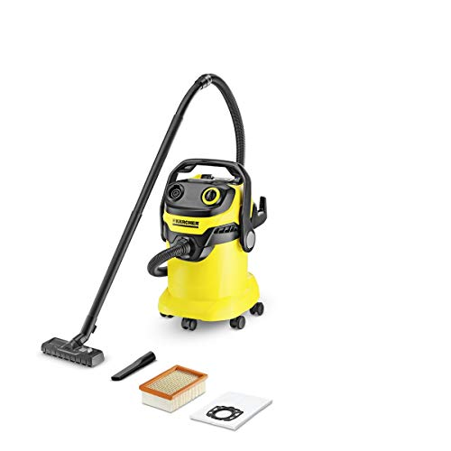 Karcher WD 5 1100-Watt Wet and Dry Vacuum Cleaner (Yellow/Black)
