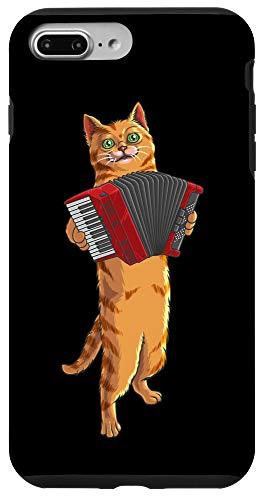 iPhone 7 Plus/8 Plus Funny Cat Playing Accordion | Cool Musician Harmonium Gift Case