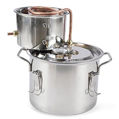 Arksen 2, 3, 5 Gallon Stainless Steel Water Alcohol Distiller Copper Tube Homemade Brew Kit Distiller Wine Making