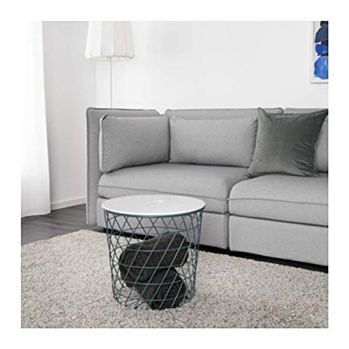 "IKEA Kvistbro Storage Table Turquoise 103.222.41 Size 17 3/8"""